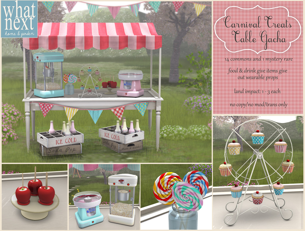 {what next} Carnival Treats Table Poster - second life