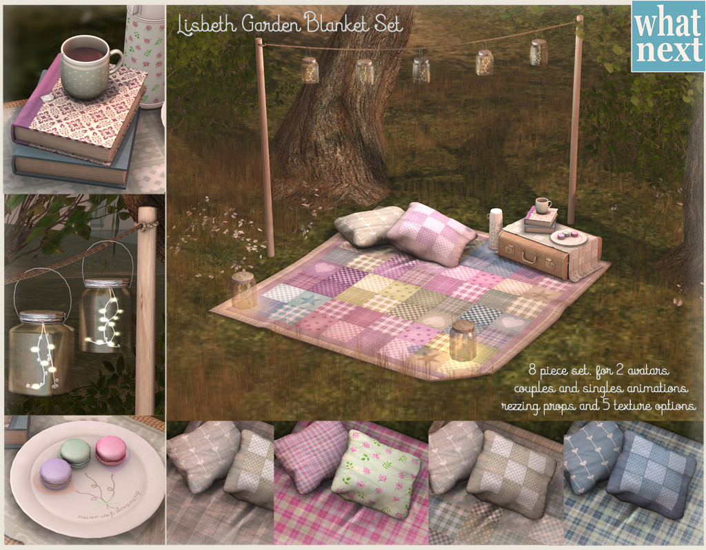 {what next} Lisbeth Garden Blanket Set