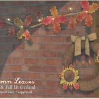 {what next} Autumn Leaves Wreath and Garland800