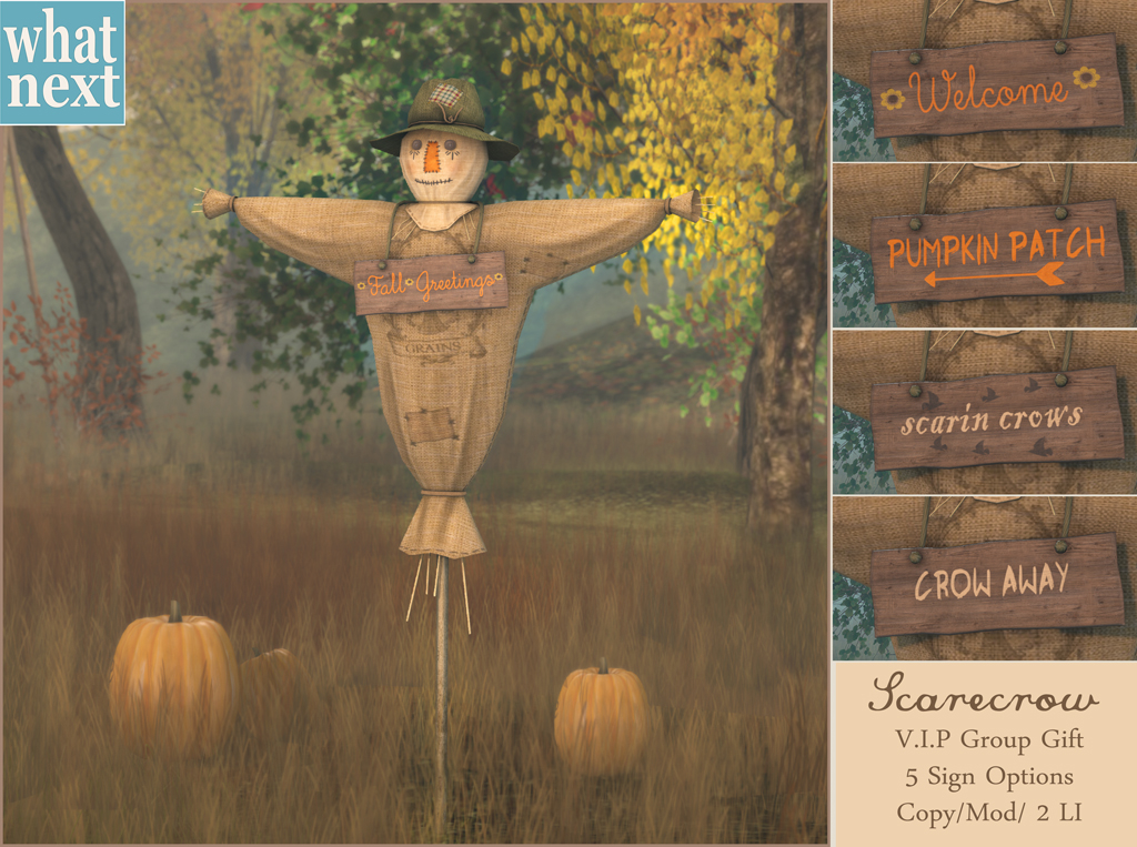 New V.I.P Group Gift – Scarecrow!