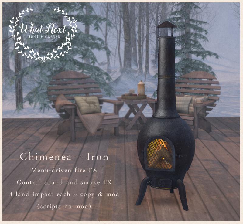 {what next} Chimenea - Iron