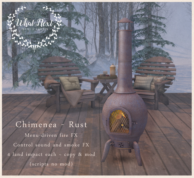 {what next} Chimenea - Rust