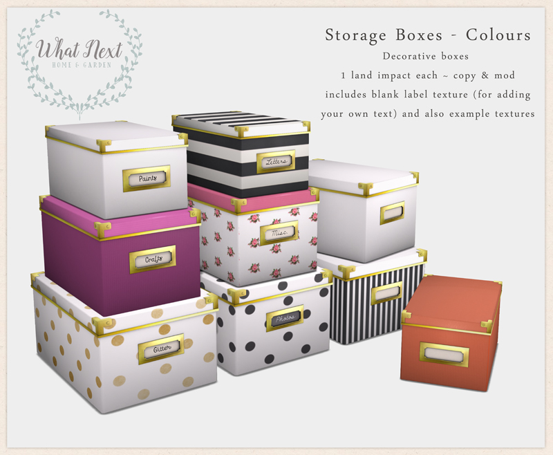 {what next} Storage Boxes - Colours
