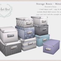 {what next} Storage Boxes - Metallics