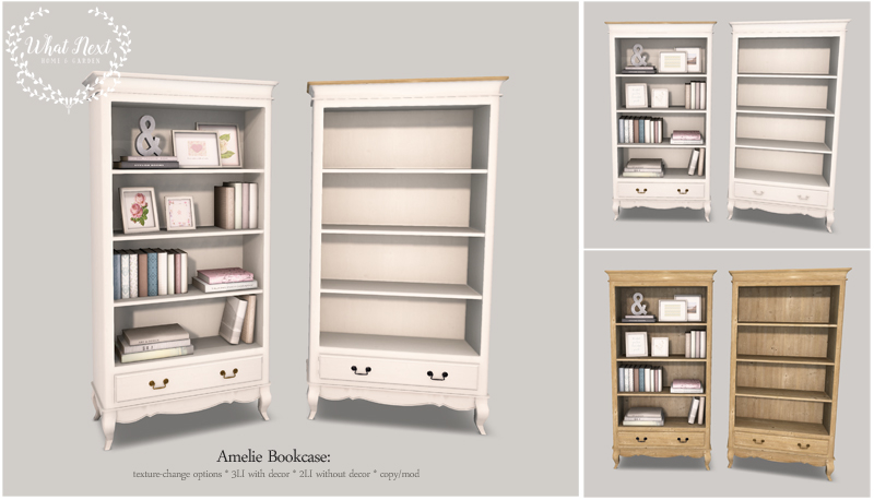 Amelie Bookcase & Tables for Fifty Linden Friday
