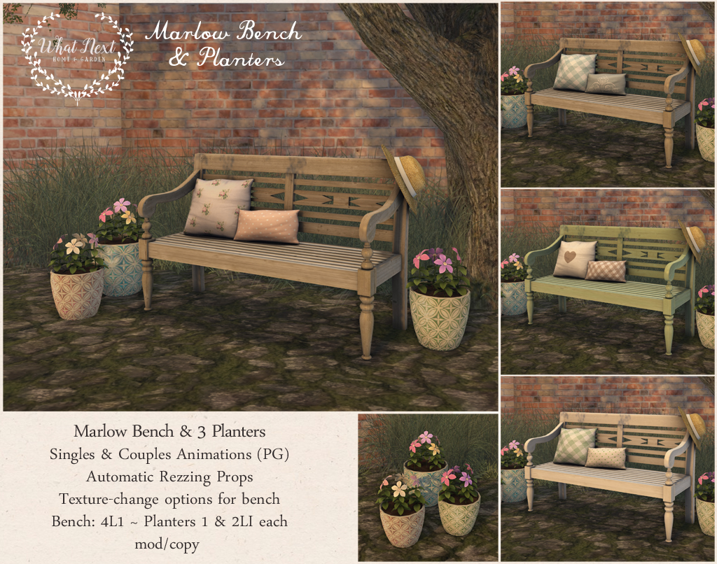 Marlow Bench & Planters at Collabor88