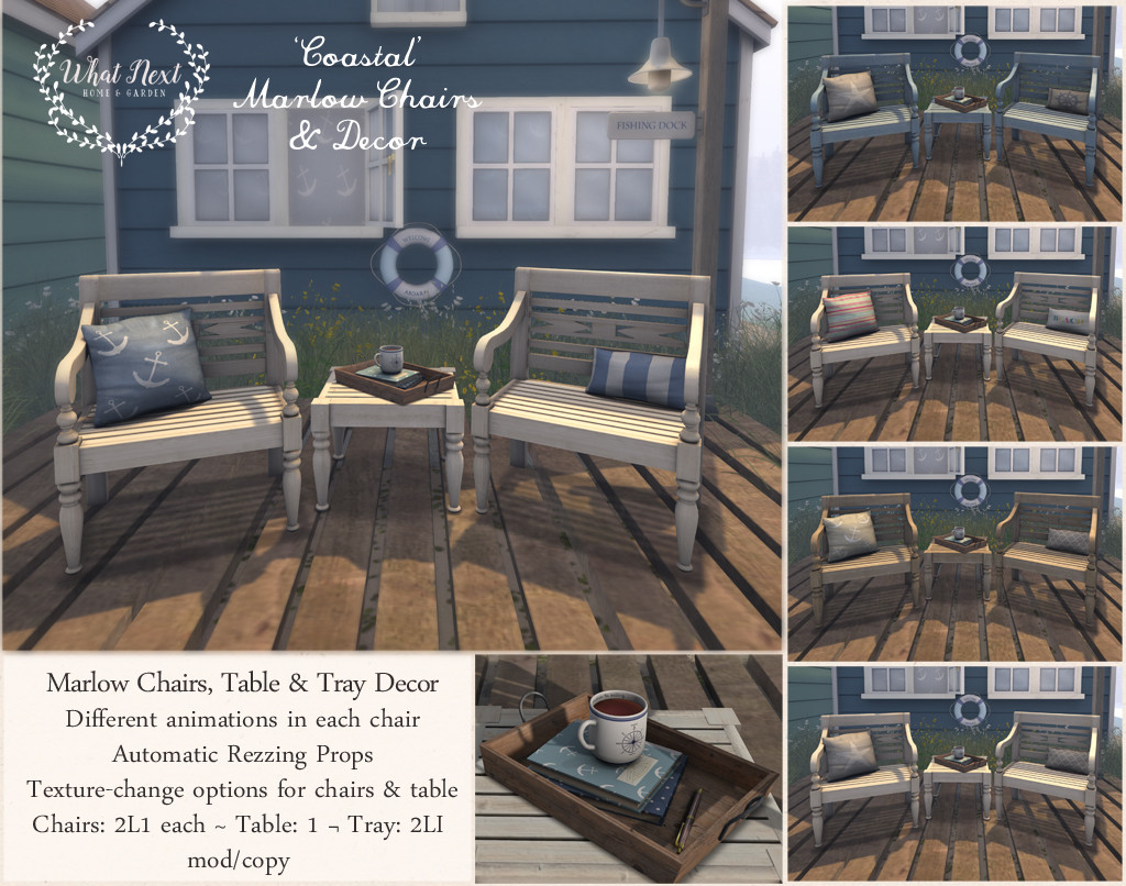 {what next} 'Coastal' Marlow Chairs & Decor 1024