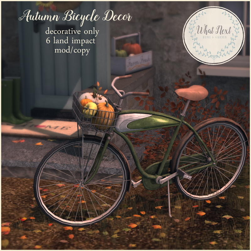 Autumn Bicycle Decor at Collabor88