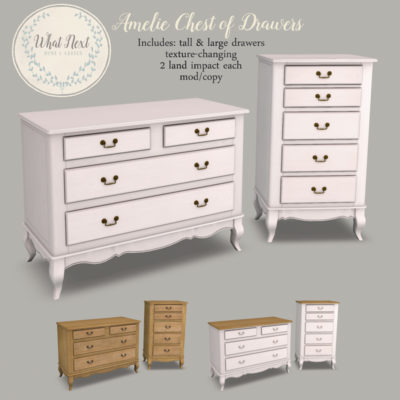 Amelie Drawers & Blanket Box for Fifty Linden Friday
