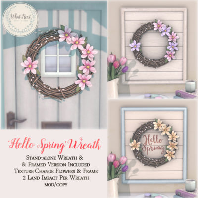Spring Wreath & Framed Prints for Collabor88 March