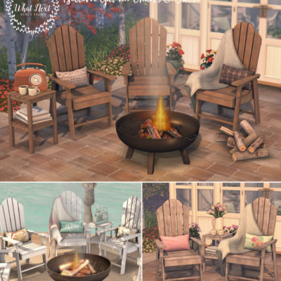 Bellevie Chairs & Fire Pit for Fifty Linden Friday