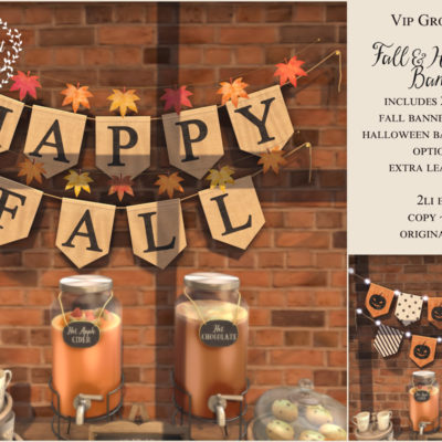 New VIP Group Gift – Fall Wall Banner