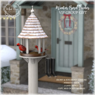 New VIP Group Gift – Winter Bird Feeder