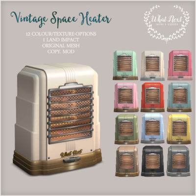 Vintage Space Heater for Fifty Linden Friday