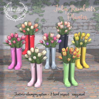 Tulip Rainboots Planter at Collabor88